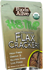 Foods Alive Hemp Organic Flax Crackers