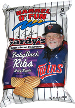 Barrel o' Fun Gardy's Signature Flavors Baby Back Ribs Wavy Ripple Potato Chips