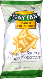 Gaytan Baked Cheese Puffs Naturally Buttery Asiago Peppercorn
