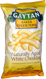 Gaytan Baked Cheese Puffs Naturally Aged White Cheddar
