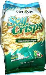 GeniSoy Soy Crisps Tangy Salt 'N Vinegar