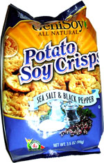 GeniSoy Potato Soy Crisps Sea Salt & Black Pepper