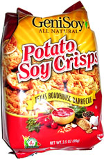 GeniSoy Potato Soy Crisps Texas Roadhouse Barbecue