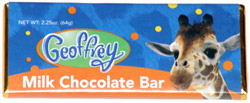 Geoffrey Milk Chocolate Bar