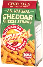Geraldine's Chipotle Smokey & Spicy Cheddar Cheese Straws