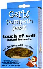 Gerbs Pumpkin Seeds Touch of Salt Baked Kernels
