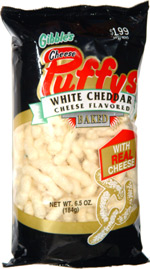 Gibble's Cheese Puffys White Cheddar Cheese Flavored