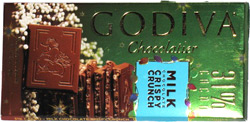 Godiva Milk Chocolate Crispy Crunch