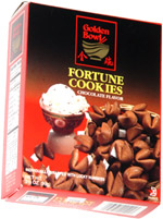 Golden Bowl Fortune Cookies Chocolate Flavor