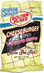 Golden Flake Cheeseburger Flavored Potato Chips