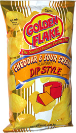 Golden Flake Dip Style Cheddar & Sour Cream Potato Chips