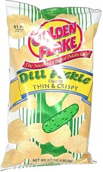 Golden Flake Dill Pickle Thin & Crispy Potato Chips