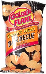 Golden Flake Sweet Heat Barbecue Thick & Crispy  Potato Chips