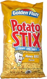 Golden Fluff Potato Stix Honey BBQ Flavor