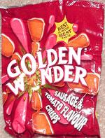 Golden Wonder Sausage & Tomato Flavour Crisps