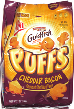 Goldfish Puffs Cheddar Bacon