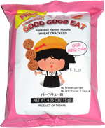 Everyone Says Good Good Eat Japanese Ramen Noodle Wheat Crackers BBQ Cube