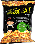 Everyone Says Good Good Eat Japanese Ramen Noodle Wheat Crackers Black Pepper