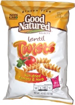 Good Natured Selects Lentil Twists Sun-dried Tomato & Herb
