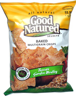 Good Natured Selects Baked Multigrain Crisps Tuscan Garden Medley