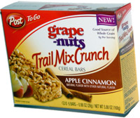Post To Go Grape Nuts Trail Mix Crunch Apple Cinnamon