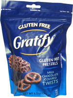Gratify Gluten Free Pretzels Milk Chocolate Covered Twists