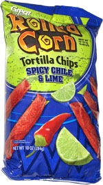 Great Value Rolled Corn Tortilla Chips Spicy Chile & Lime