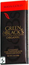 Green & Black's Organic Maya Gold Organic Bittersweet Dark Chocolate with Orange and Spices