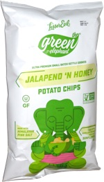 The Green Elephant Jalapeno 'n Honey Potato Chips