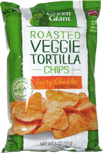 Green Giant Roasted Veggie Tortilla Chips Zesty Cheddar