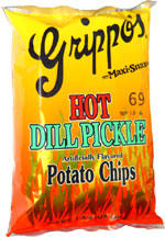 Grippo's Maxi-Snax Hot Dill Pickle Potato Chips