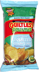 Guiltless Gourmet Unsalted Yellow Corn Tortilla Chips