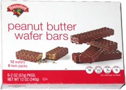 Hannaford Peanut Butter Wafer Bars