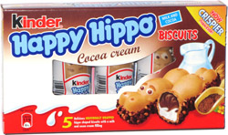 Happy Hippo Cocoa Cream Biscuits
