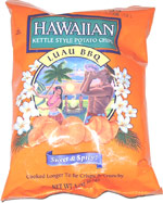 Hawaiian Kettle Style Potato Chips Luau BBQ