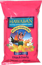 Hawaiian Kettle Style Potato Chips Mango Habanero