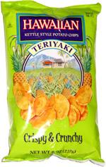 Hawaiian Kettle Style Potato Chips Teriyaki