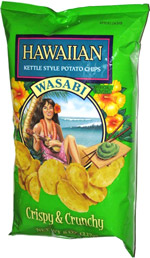 Hawaiian Kettle Style Potato Chips Wasabi