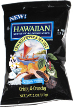 Hawaiian Kettle Style Potato Chips Cracked Pepper & Sea Salt