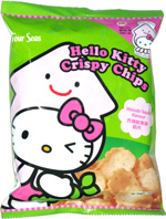 Hello Kitty Crispy Chips Wasabi Squid Flavour