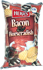 Herr's Bacon & Horseradish Rippled Potato Chips