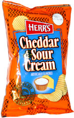 Herr's Cheddar & Sour Cream Ripples Potato Chips