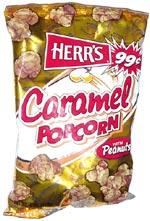Herr's Caramel Popcorn With Peanuts