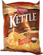 Herr's Kettle Cooked Potato Chips Cheddar Horseradish