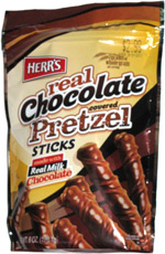 Herr's Real Chocolate Covered Pretzel Sticks