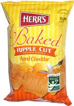 Herr's Baked Ripple Potato Crisps Aged Cheddar