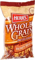 Herr's Whole Grain Pretzel Sticks Honey Wheat
