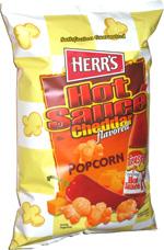 Herr's Texas Pete Hot Sauce Cheddar Popcorn
