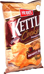 Herr's Kettle Cooked Potato Chips Mesquite BBQ Flavored