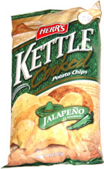 Herr's Kettle Cooked Jalapeño Flavored Potato Chips